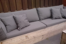 Lounche Set Kussens : Tuinset loungeset met kussens zo goed als nieuw te koop